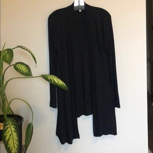 Nordstrom Black Draping Cardigan